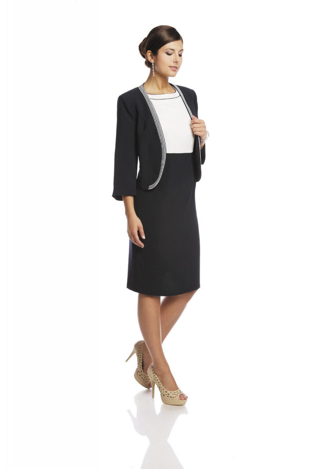business kleid mit jacket klassisch elegant online kaufen. Black Bedroom Furniture Sets. Home Design Ideas