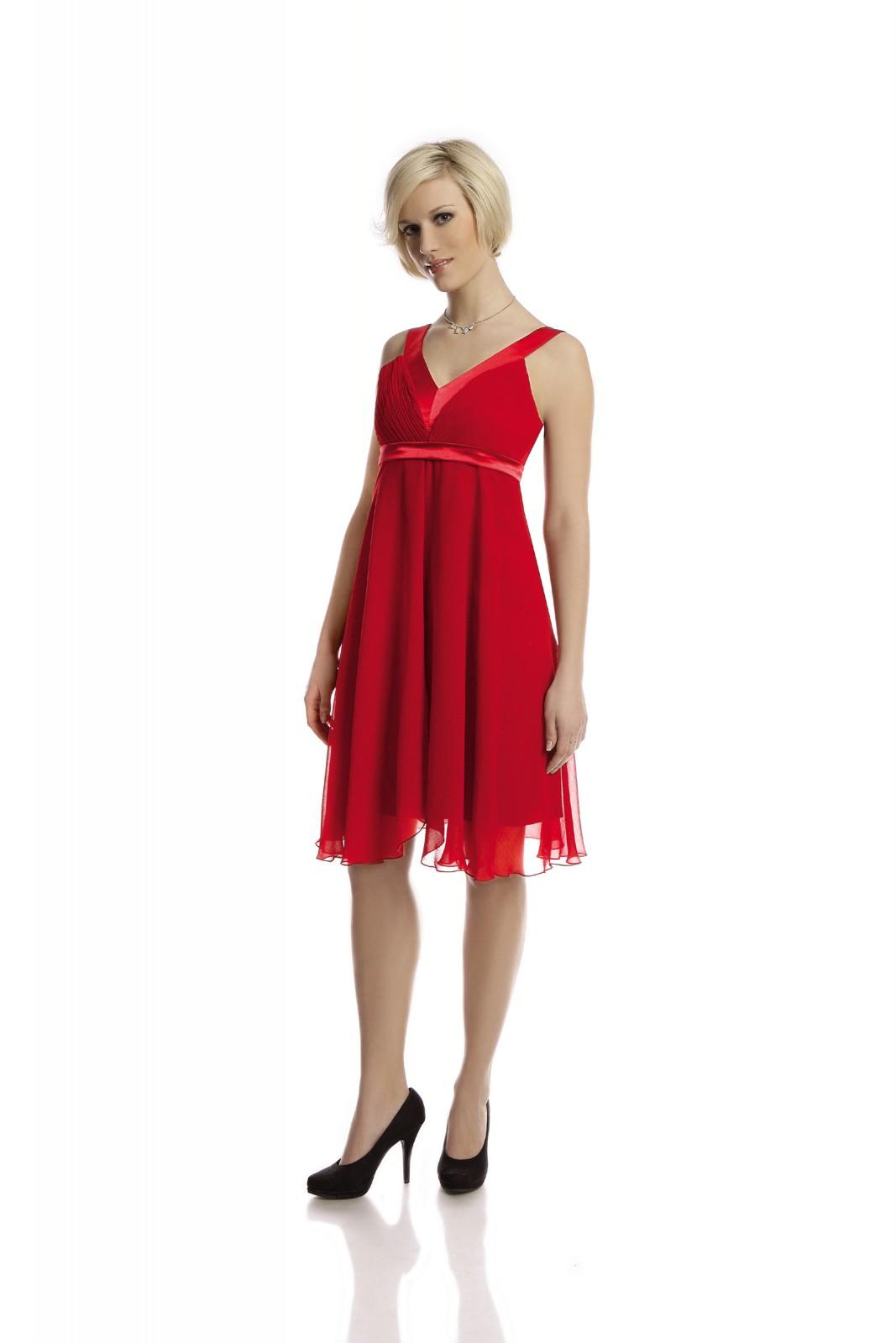 Rote Partykleider aus luftigem Chiffon bei kleider-boutique.de - ...