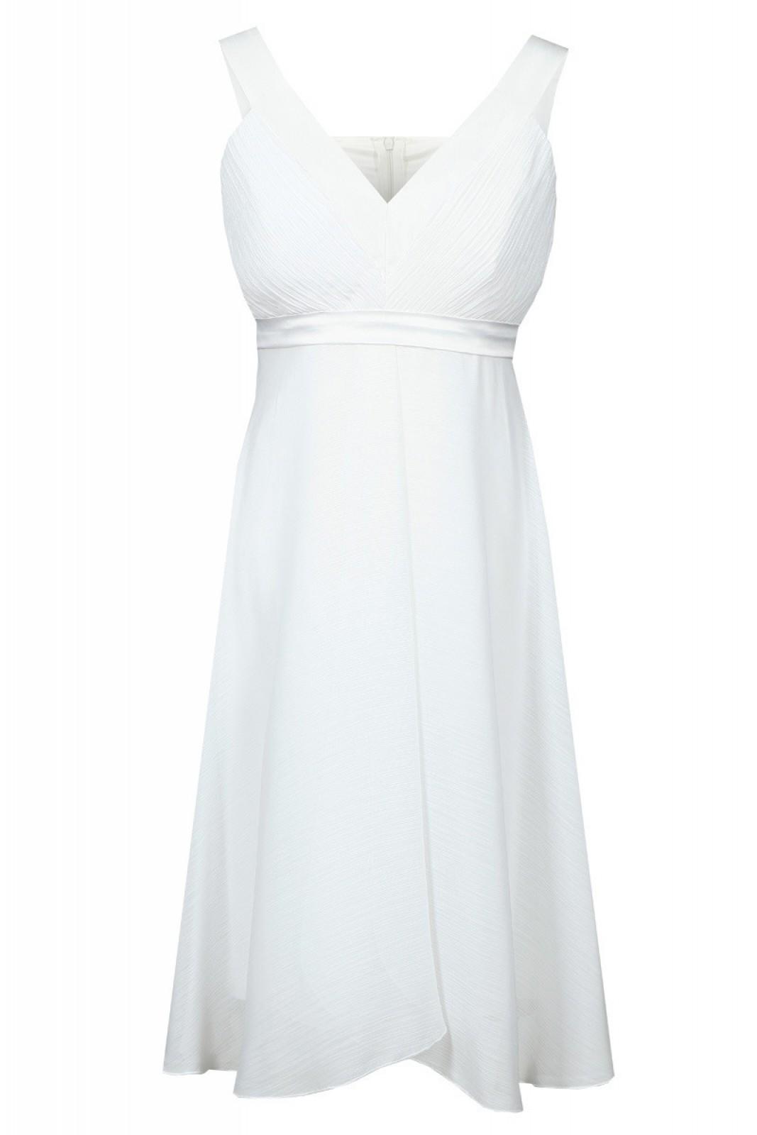 Weisses Partykleider aus luftigem Chiffon bei kleider-boutique.de ...