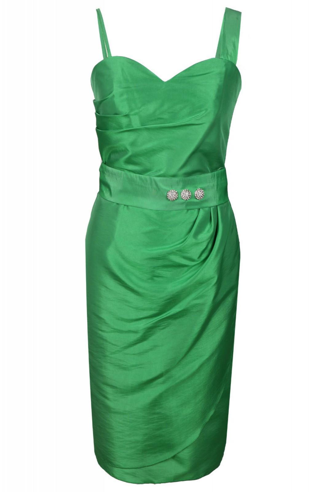 Cocktailkleider grün mit Bolero bei kleider-boutique.de online ...