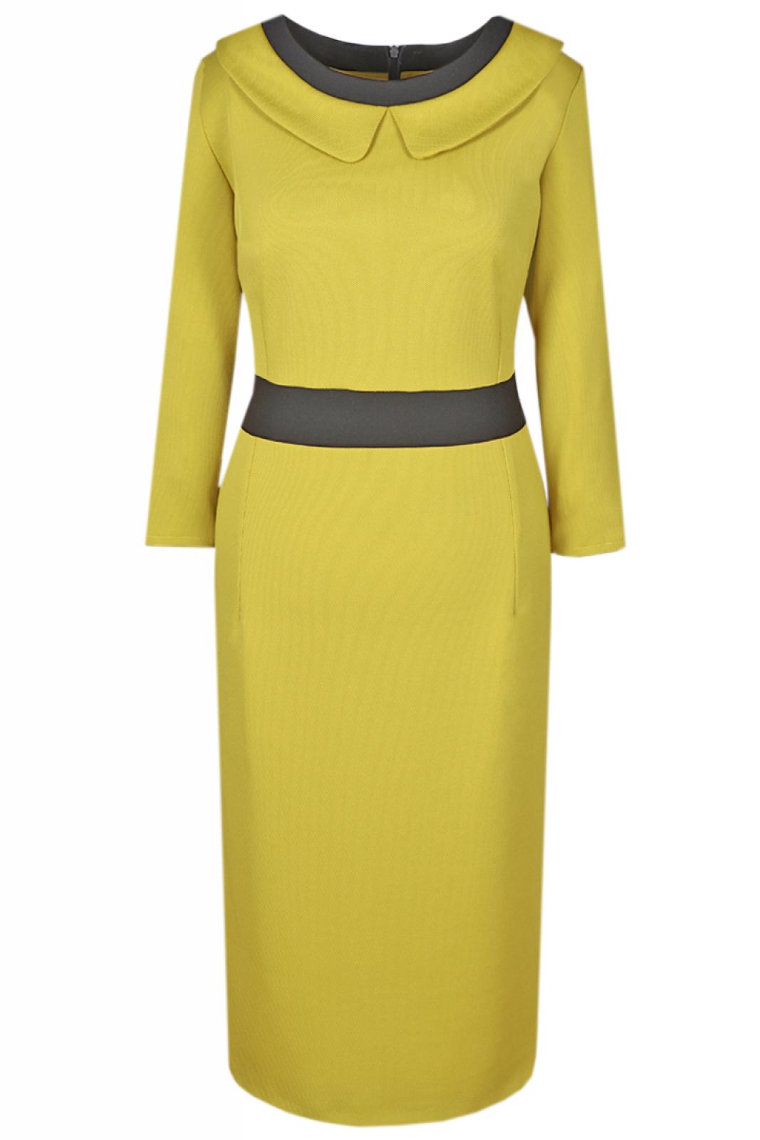Etuikleid limone im eleganten Business-Look für Büro und ...