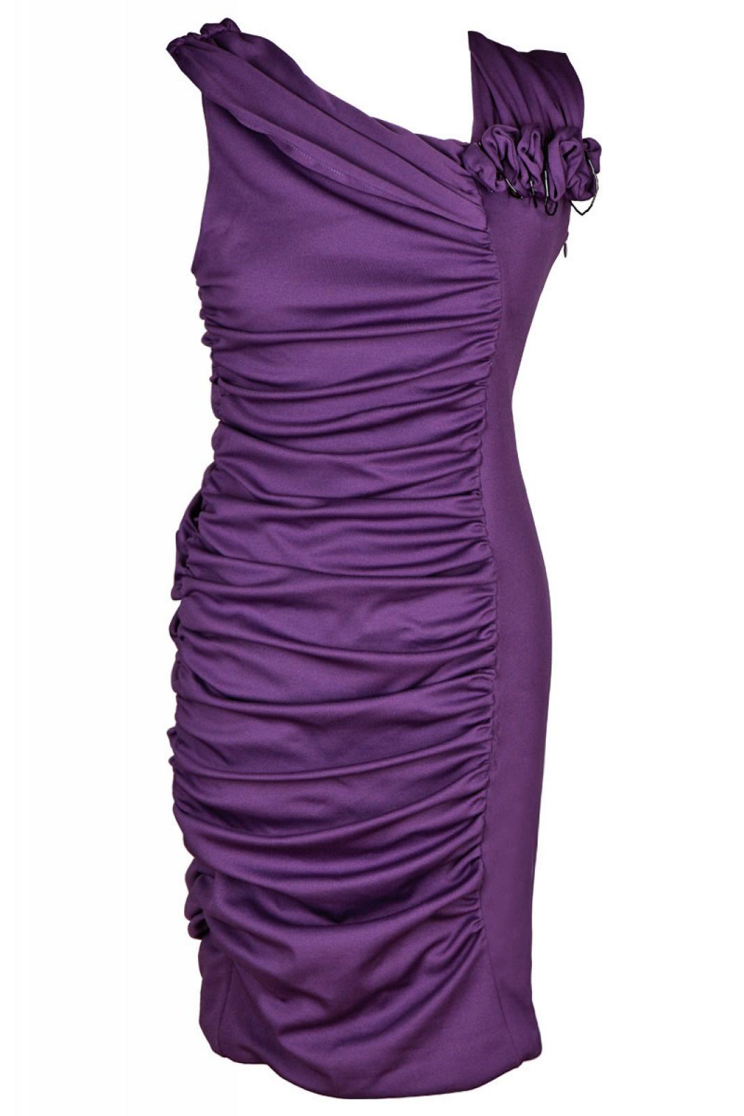 Partykleid aus Jersey mit Raffungen und Perlen online kaufen - ...