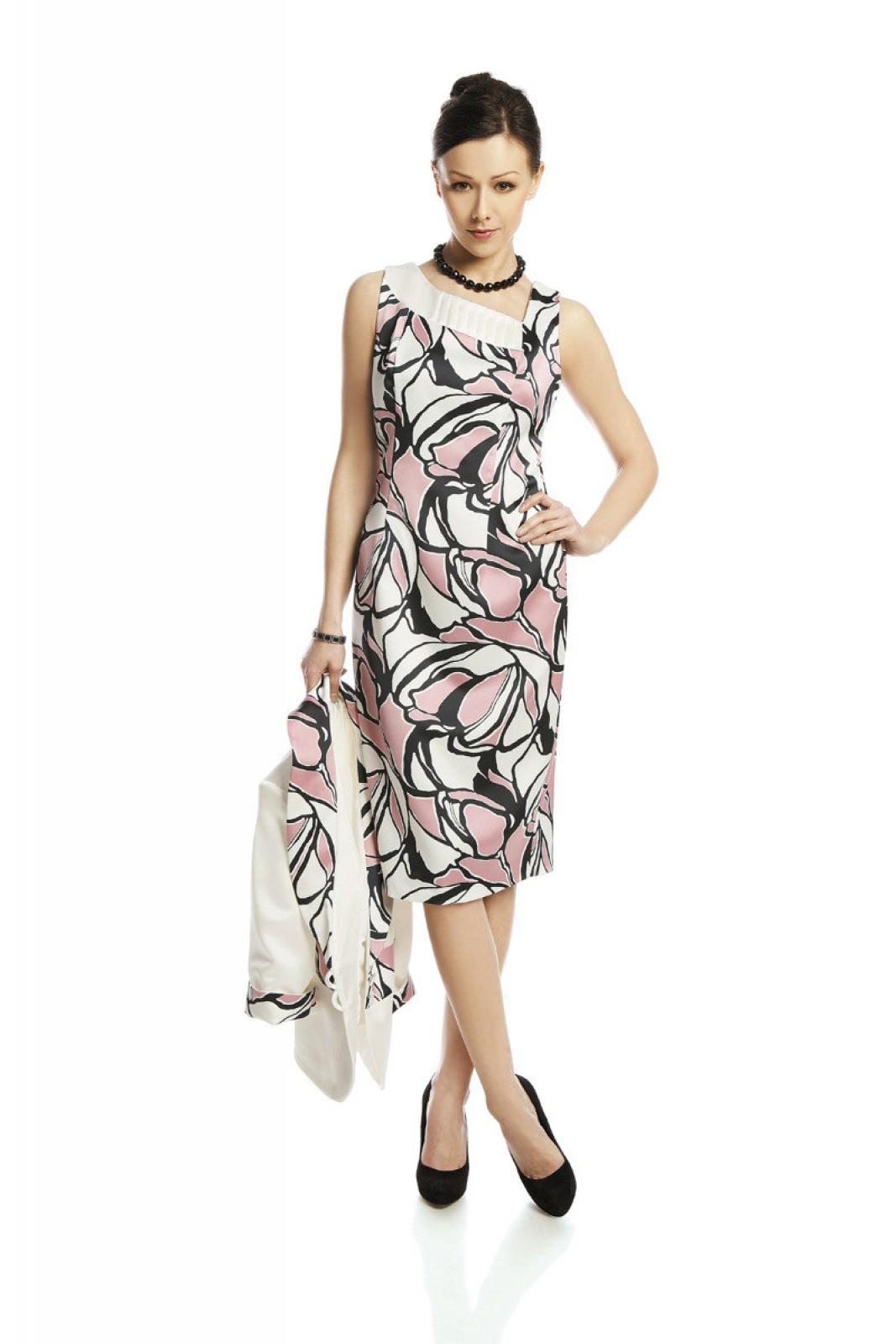 Zweiteiliges apartes Cocktail-Kleid mit asymmetrischem Ausschnitt ...
