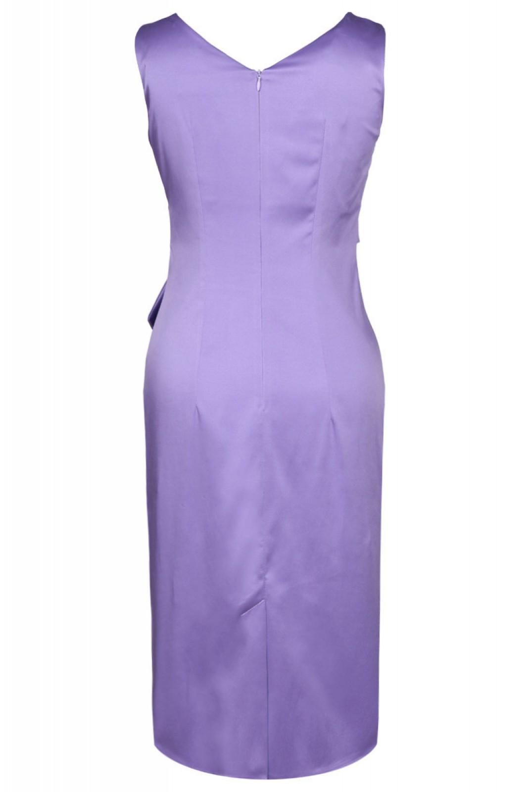 Partykleider in violett-lila mit V-Ausschnitt und Schärpe - ...