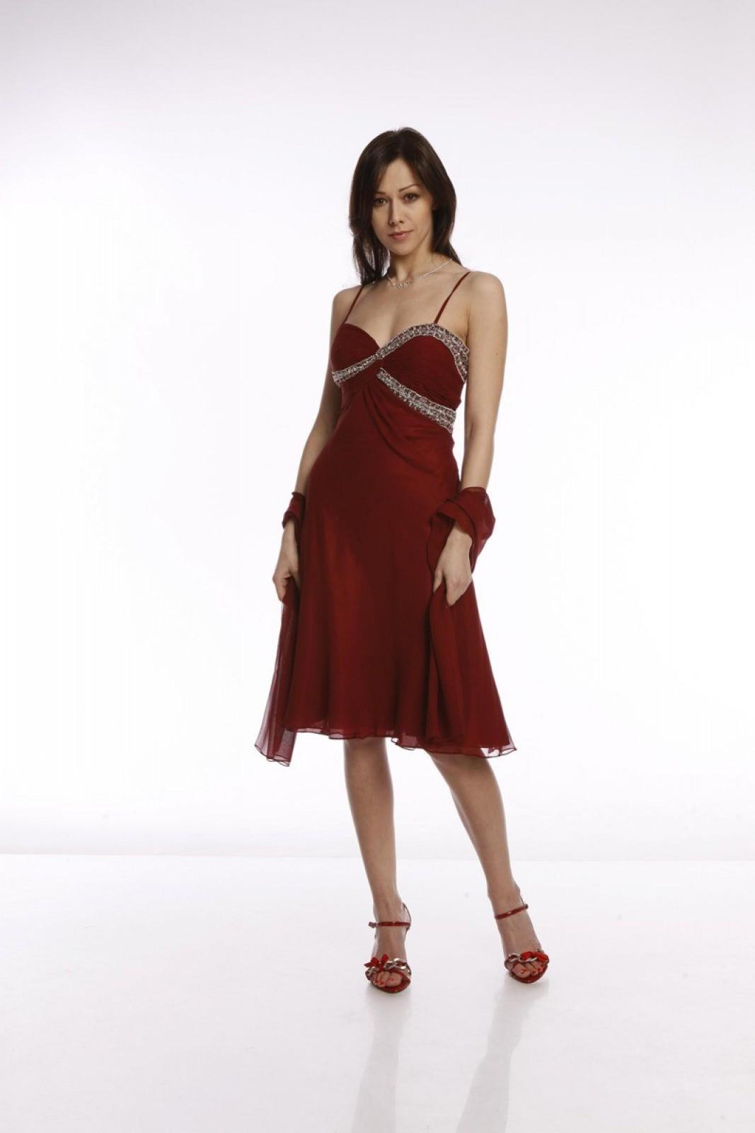 Kurze Abendkleider in A-Linie mit herzförmigem Ausschnitt und ...