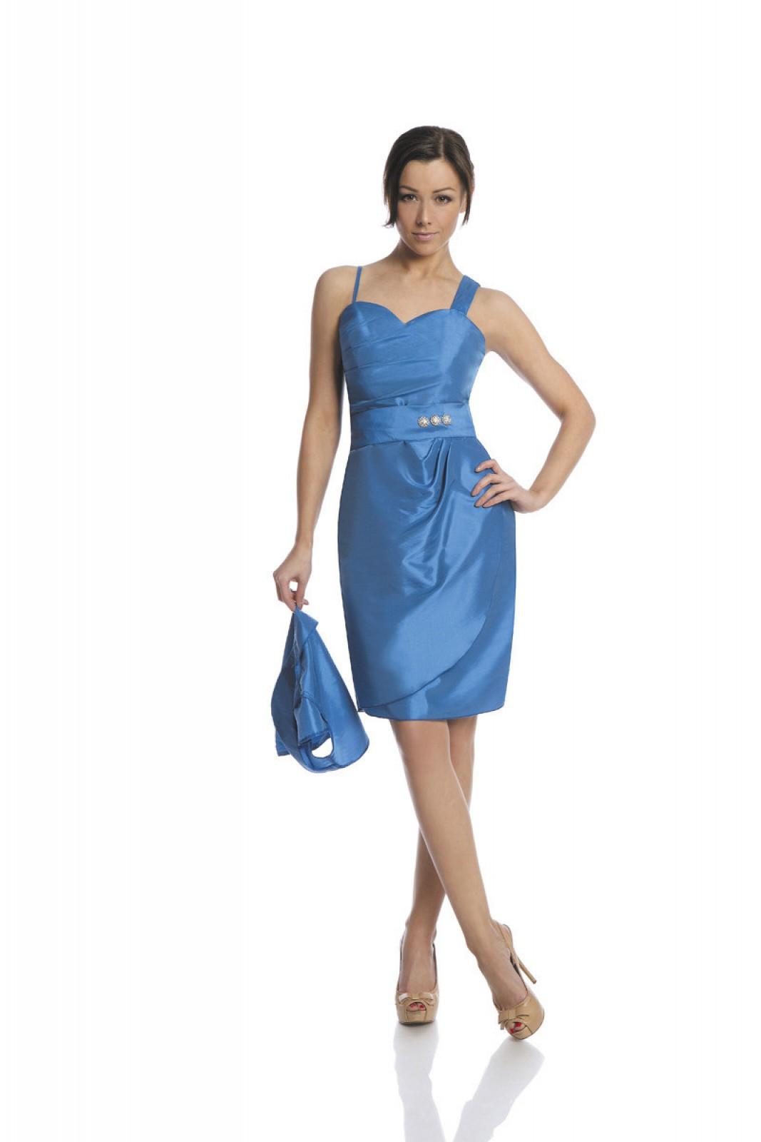 Kurze Partykleider aus Taft kornblumen blau bei ...