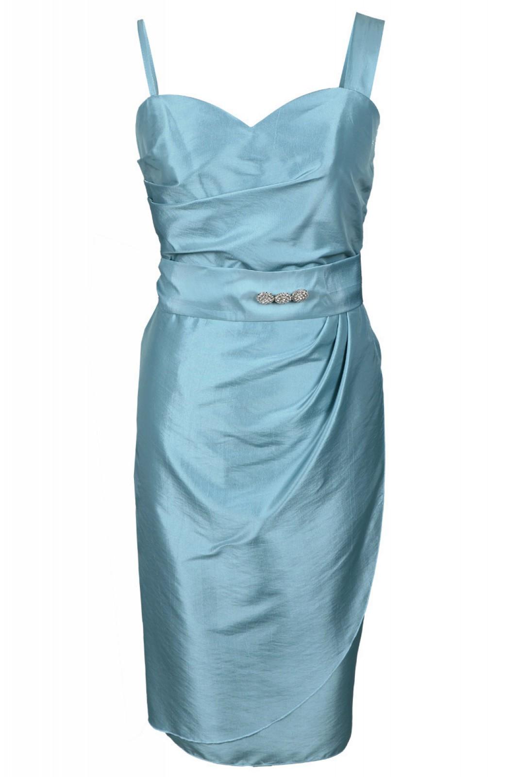 Kurze Partykleider aus Taft azurblau bei kleider-boutique.de - ...