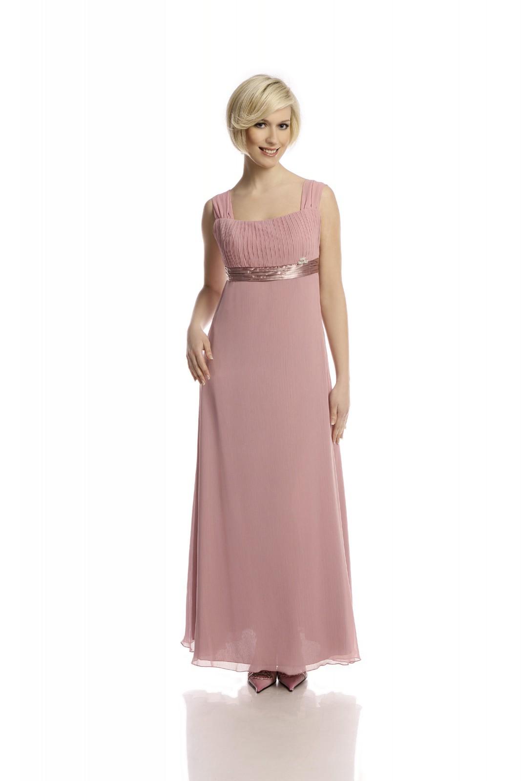 Langes Abendkleid im Retro Stil altrosa - anmutig & feminin - ...