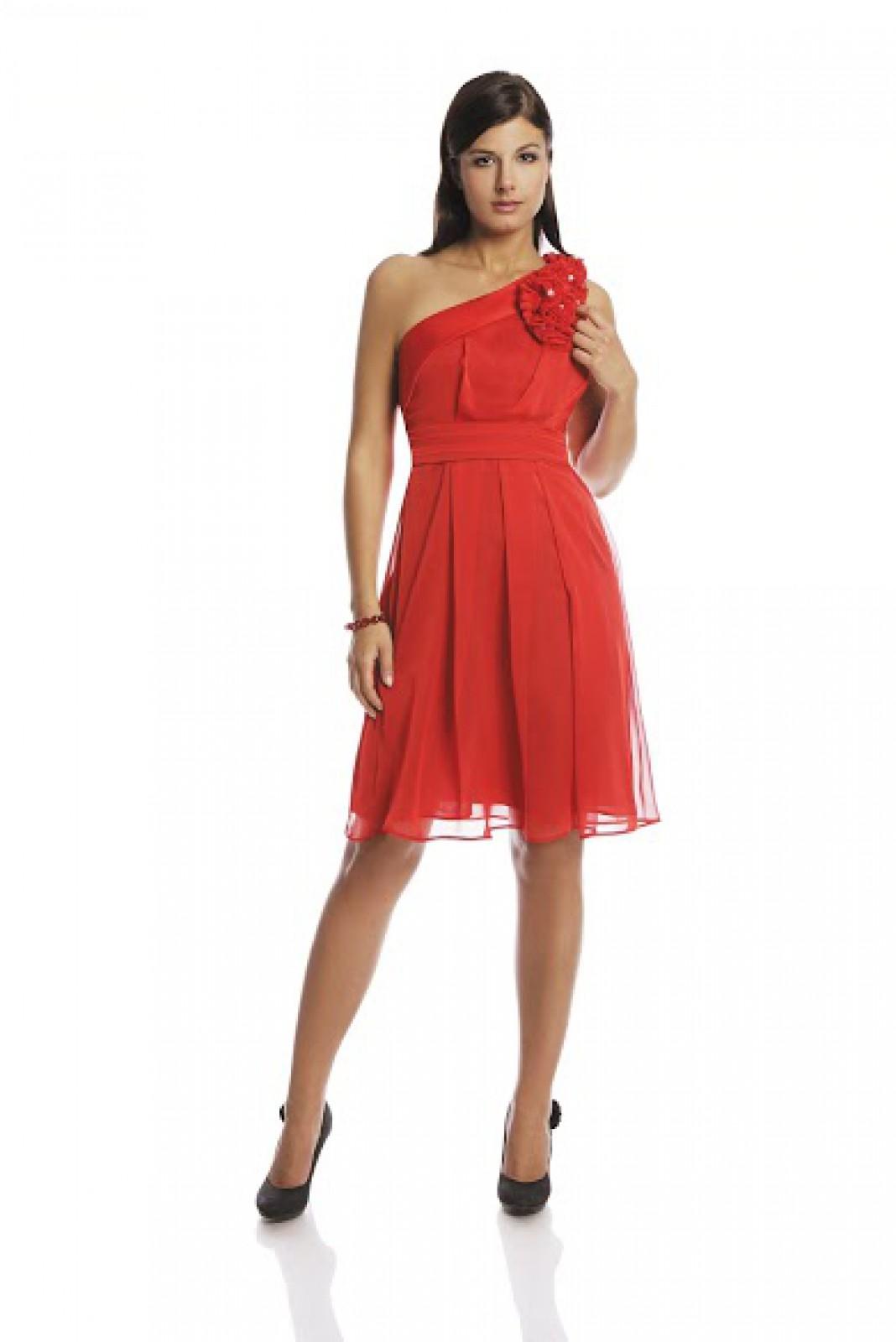 Partykleider aus fließendem Chiffon in Rot online bestellen - ...