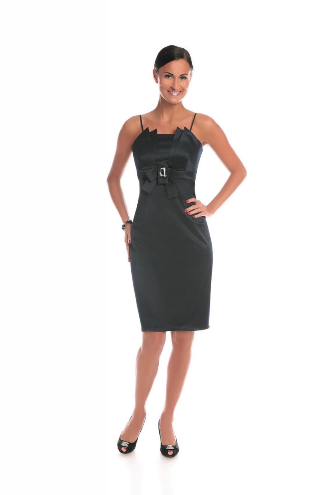 Enges Cocktailkleid, figurbtont, schwarz, knielang, sexy - ...