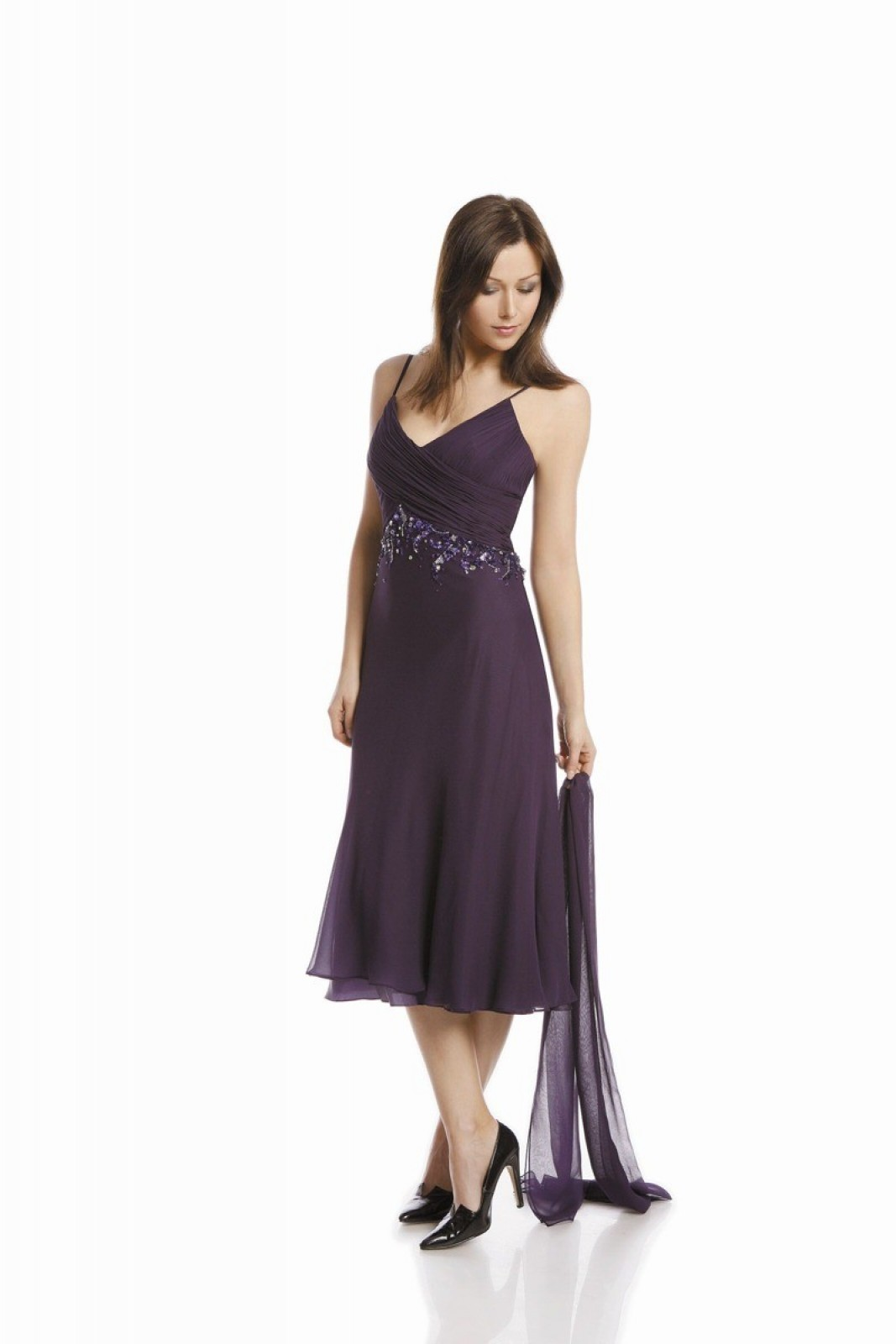 Seidene Partykleider lila bei kleider-boutique.de - Kleiderboutique